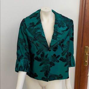 Frascara VTG black/green dress jacket Size 14